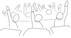 Moms blog- hands raised